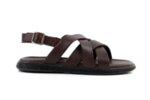 Ежедневни кафяви дамски сандали от естествена кожа 57.555