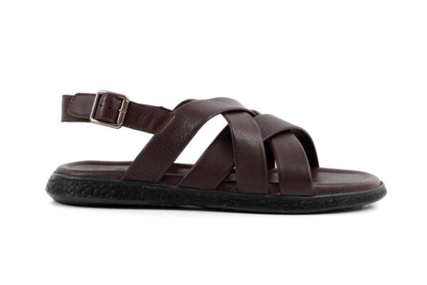 Ежедневни кафяви мъжки сандали от естествена кожа 57.555