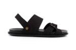 Ежедневни черни мъжки сандали от естествен набук 57.313