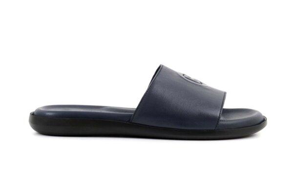 Мъжки сини чехли от естествена кожа 57.541