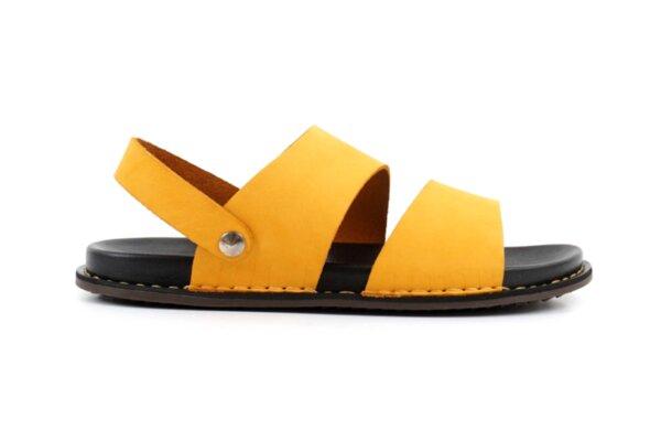 Ежедневни жълти мъжки сандали от естествена кожа 57.312
