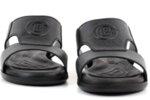 Ежедневни черни мъжки чехли от естествена кожа 57.513