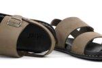 Ежедневни сиви мъжки сандали от естествен набук 57.316