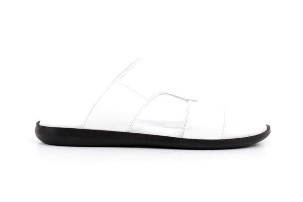 Ежедневни бели мъжки сандали от естествена кожа 57.513