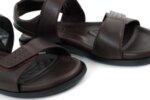 Ежедневни кафяви мъжки сандали от естествена кожа 57.150