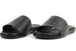 Ежедневни черни мъжки чехли от естествена кожа 57.541