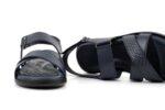 Ежедневни сини мъжки сандали от естествена кожа 57.441