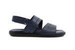 Ежедневни сини мъжки сандали от естествена кожа 57.562
