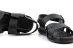 Ежедневни черни мъжки сандали от естествена кожа 57.441