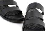 Ежедневни черни мъжки чехли от естествена кожа 57.552