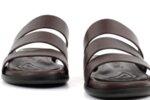 Ежедневни кафяви мъжки чехли от естествена кожа 57.552