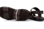 Мъжки кафяви сандали от естествена кожа 57.573