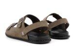 Ежедневни сиви мъжки сандали от естествен набук 57.317