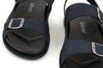 Ежедневни сини мъжки сандали от естествен набук 57.317