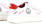 Мъжки спортни червени обувки от естествена кожа 57.24802