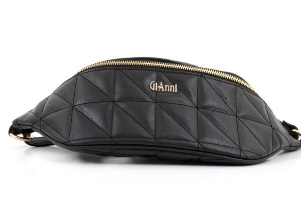 Дамска черна чанта за кръст от еко кожа 17.229