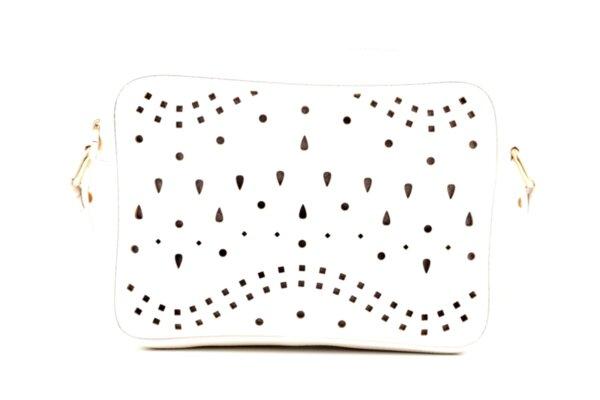 Дамска бяла чанта от еко кожа 17.2219