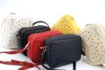 Дамска червена чанта от еко кожа 17.2219