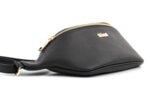 Дамска черна чанта за кръст от еко кожа 17.2298