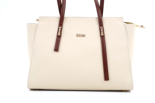 Дамска бежова чанта от еко кожа 17.2460