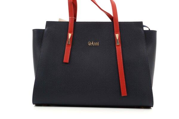 Дамска синя чанта от еко кожа 17.2460