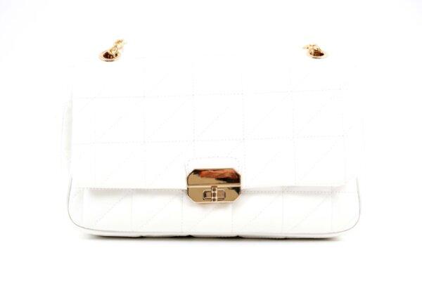 Дамска бяла чанта от еко кожа 17.2289