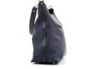 Дамска синя чанта от еко кожа и сатенен плат 17.2365