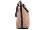 Дамска кафява чанта от еко кожа и сатенен плат 17.2365