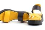 Ежедневни жълти дамски сандали от естествена кожа 56.2605