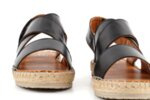 Ежедневни черни дамски сандали от естествена кожа 56.4536
