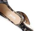 Дамски черни чехли от естествен лак 29.11809