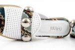 Дамски бели чехли от естествена кожа 29.11807