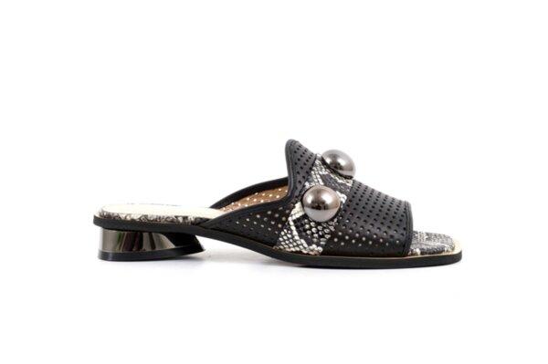 Черни дамски чехли от естествена кожа 29.11807