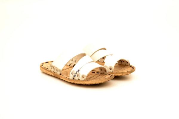 Мъжки бели чехли от естествена кожа 13.1711