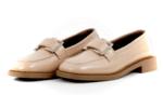 Ежедневни бежови дамски обувки от естествен лак 04.1919