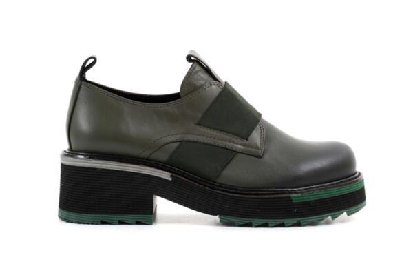 Ежедневни зелени дамски обувки от естествена кожа 29.505