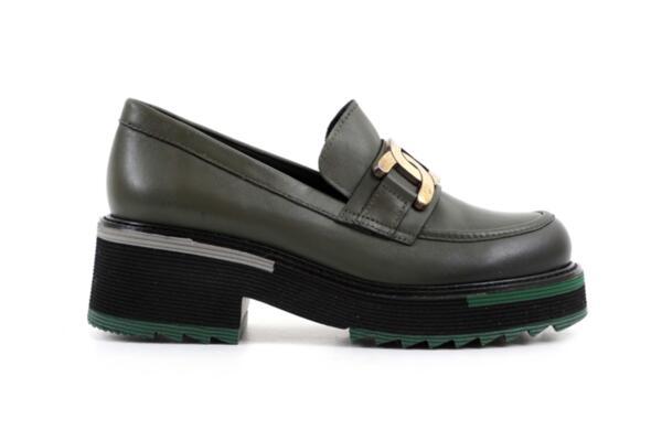 Ежедневни зелени дамски обувки от естествена кожа 29.501