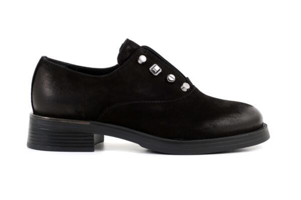 Ежедневни черни дамски обувки от естествен набук 10.34046