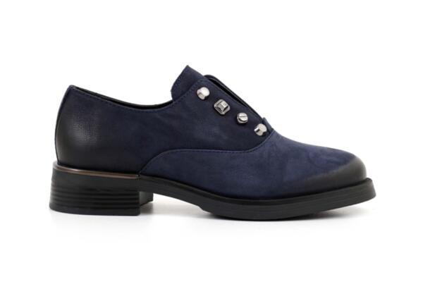 Ежедневни сини дамски обувки от естествен набук 10.34046