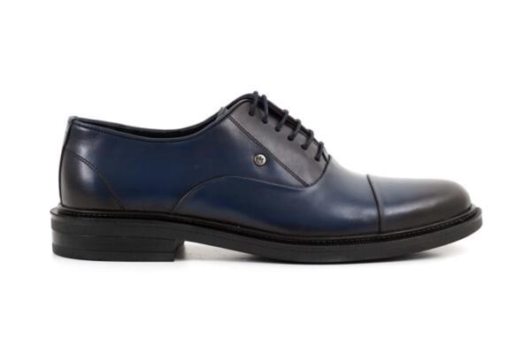 Елегантни сини мъжки обувки от естествена кожа 57.26016