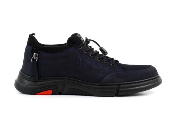 Спортни сини мъжки обувки от естествен набук 57.17515