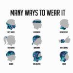 Кърпа за глава (бандана) 7 броя