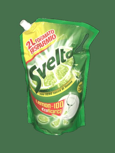Препарат за съдове SVELTO EKO POUCH 2л. лимон