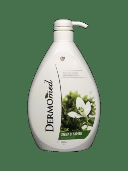 Течен крем-сапун DERMOMED с масло от бял мускус 1л.