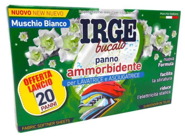 Парфюмни кърпички за сушилня и пералня IRGE  MUSCHIO  BIANCO 20 бр