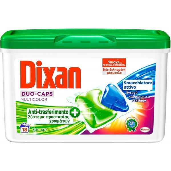 Капсули за пране DIXAN DUOCAPS COLOR 18бр.