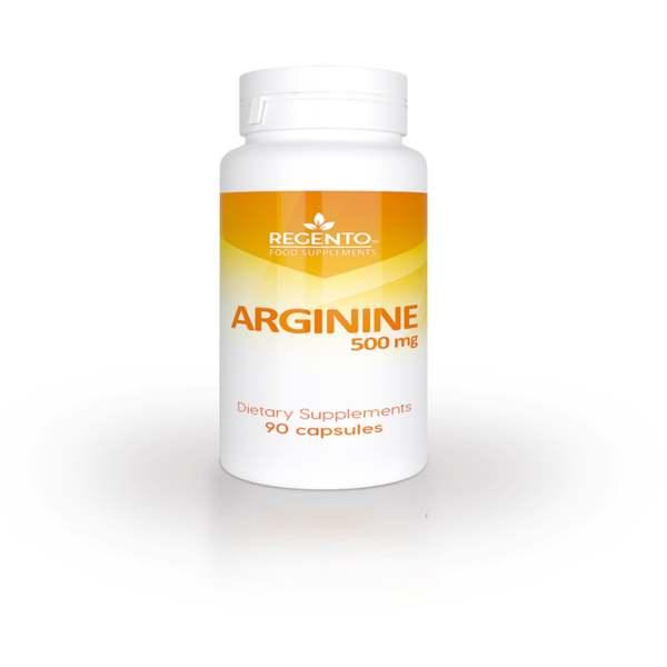 REGENTO ARGININE 500mg 90 capsules