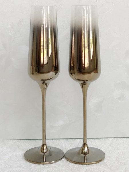Златни кристални чаши за сватба K11