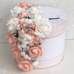 Сватбен комплект в цвят пудра и розова праскова K41