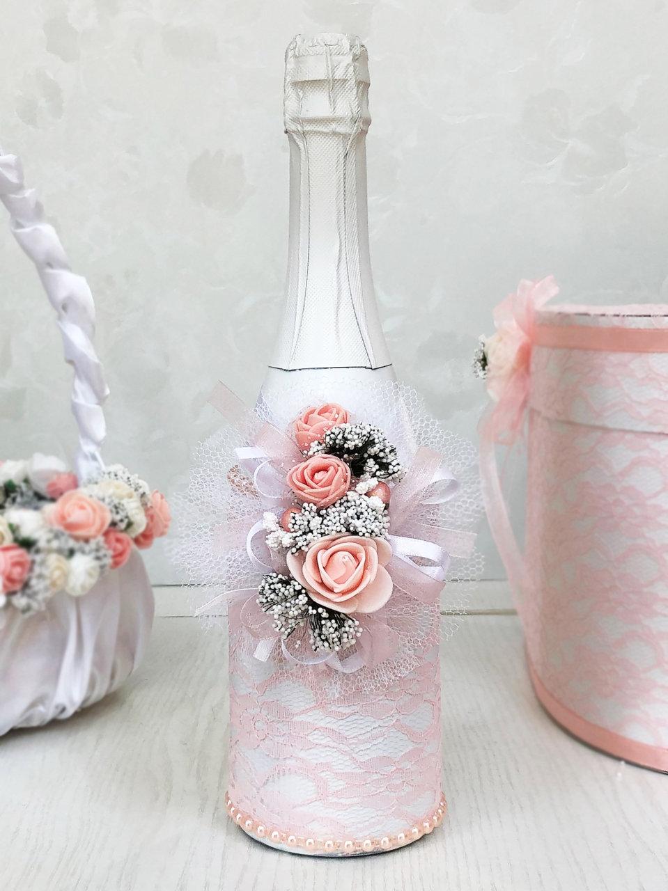 Ритуално шампанско в цвят розова праскова